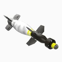 gbu-16 paveway ii laser 3d model