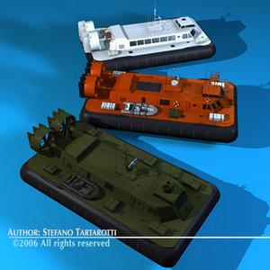 3 hovercraft 3d model