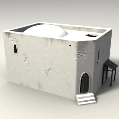 3d medieval moorish building