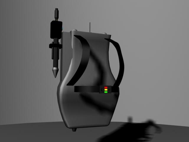 proton gun ghostbuster 3d model