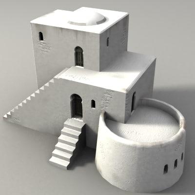 lightwave medieval moorish building