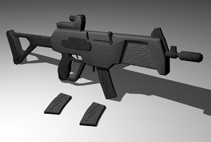 3d model imi magal assault rifle