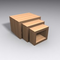 frank gehry nesting tables 3d max