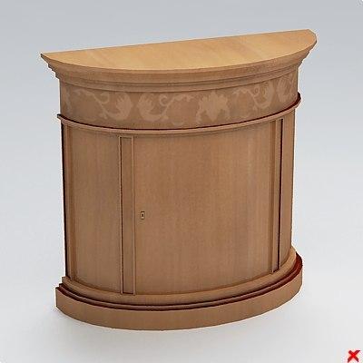 3d table hall model
