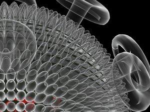 3d hiv virus model