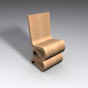 frank gehry wiggle chair 3d model