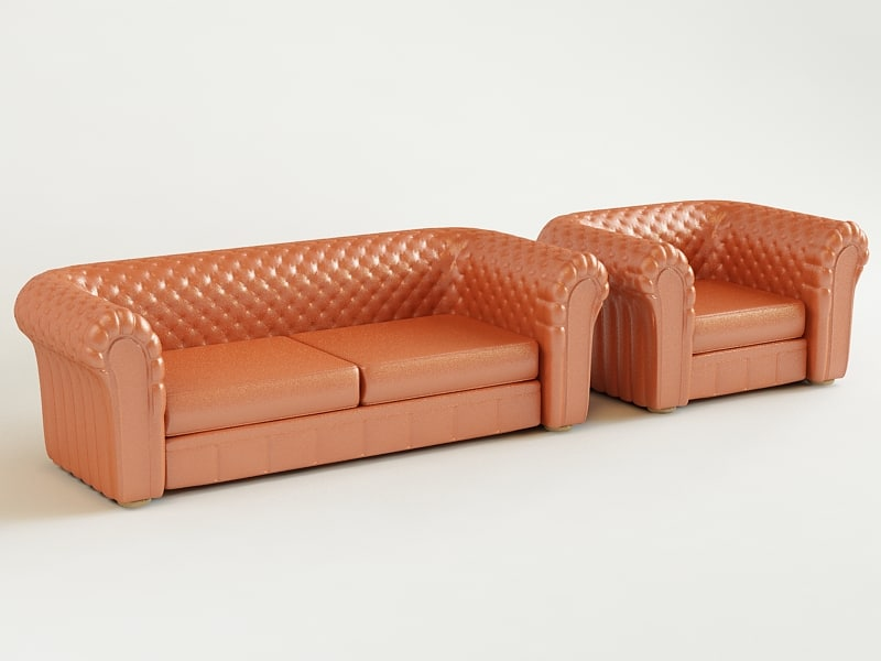 chesterfield set 3d 3ds