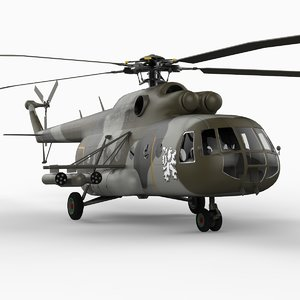 mi-17 helicopter 3d 3ds