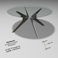 dining table glass - 3d model