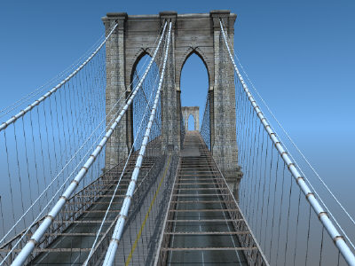brooklyn bridge 3d model