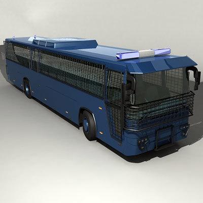 prison bus police 3d max