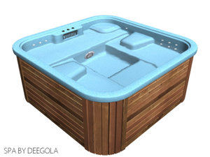 free ground outdoor spa jacuzzi 3d model