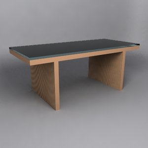 3d frank gehry dining table