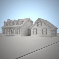 3d model residential house