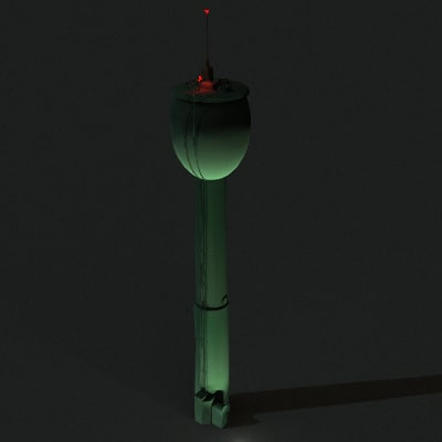 realistic water tower lwo