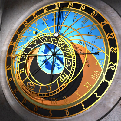 3d astronomical clock model