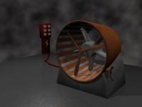 3d model turbine ventilator fan