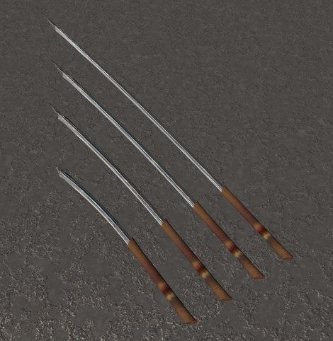 elven swords gard c4d