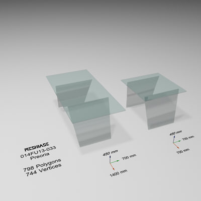 tables - trash 3d model
