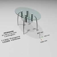 3d model table glass -