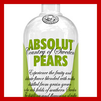 Absolut Pears Vodka Bottle