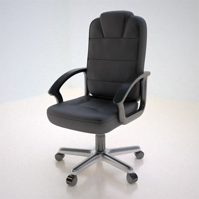 3d leather office chair