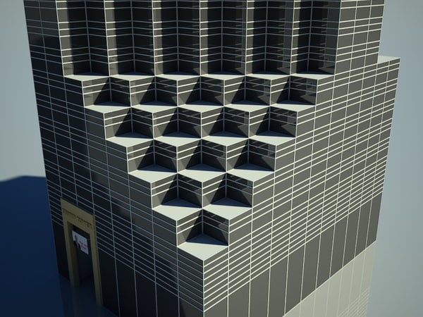 trump tower skyscrapers 3d max