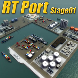 port harbour rt 3d model