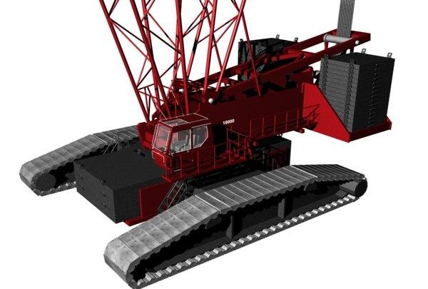 crawler crane 18000 3d model