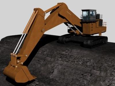 3d 3ds excavator