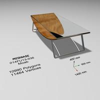 maya table glass -