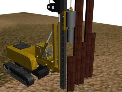 3d model piledriver rig
