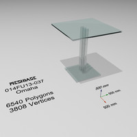 3d table glass - model