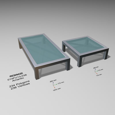 tables glass - 3d max