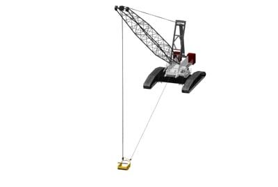 dragline crane ls-278h 3d max