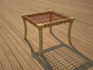 scandinavian design seating 3d model