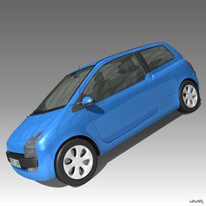 3d max city car small
