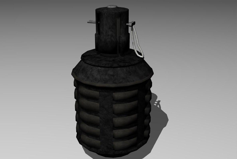 3d model type 97 grenade