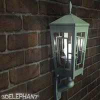 3d outdoor lamp