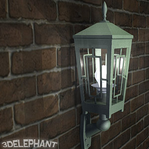 3d outdoor lamp