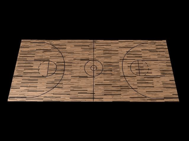 maya wood planks basketball court