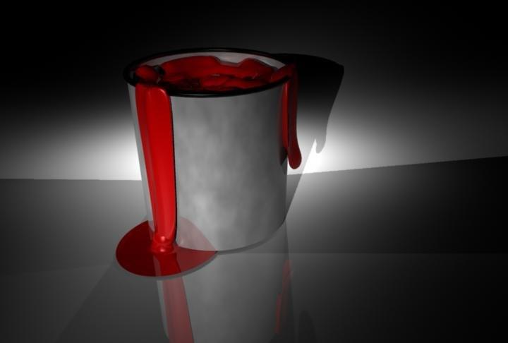 free paint bucket 3d model
