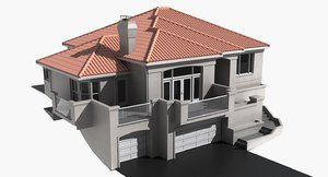 residential house 3d 3ds