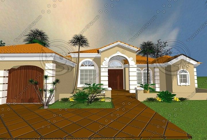 3 house virtual tour 3d max