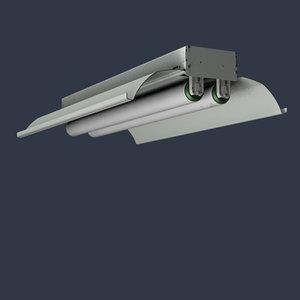 cinema4d 24 fluorescent fixture light