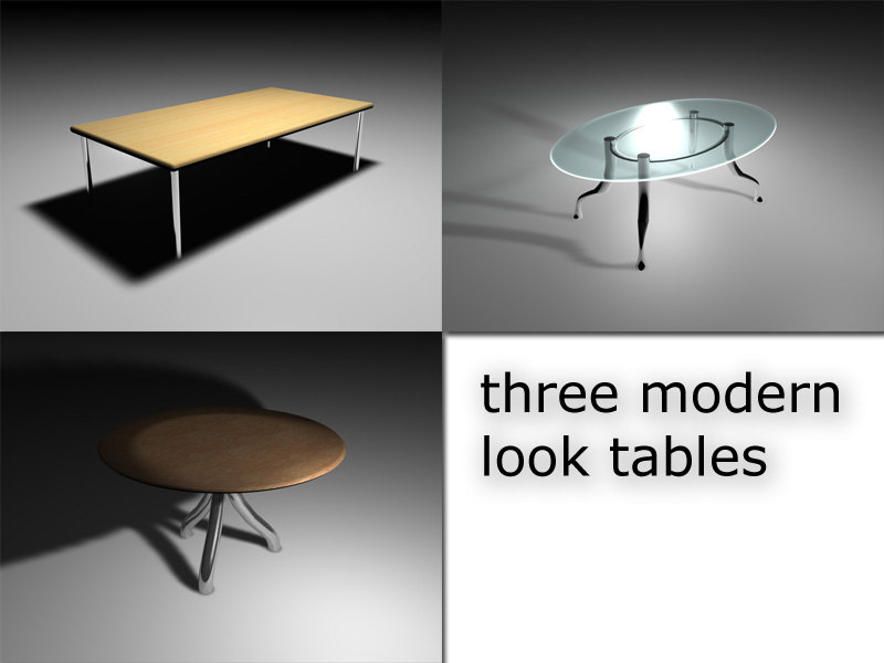 free pack tables 3d model