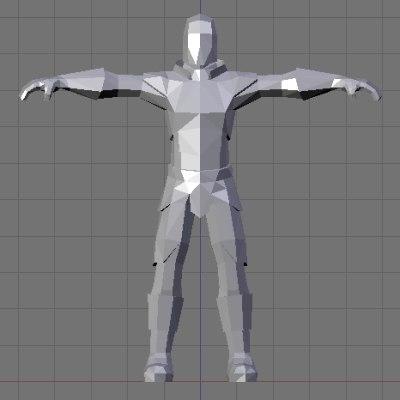 knight fantasy 3d model