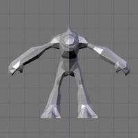 Low-Poly Fantasy Fishman Model