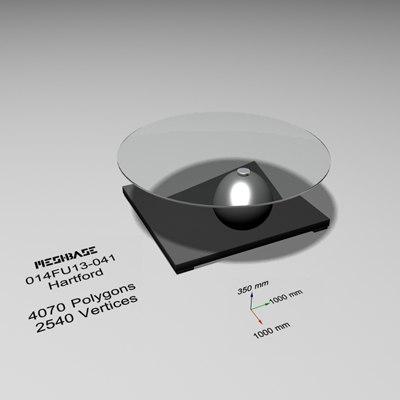 designer table glass - 3d max