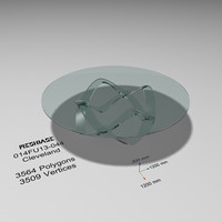 table glass - 3d model